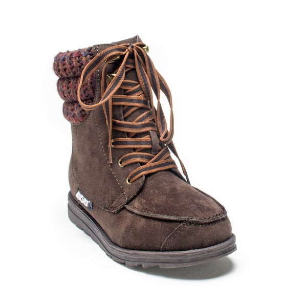 Muk Luks Women's Dark Brown Polly Boot