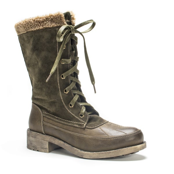 Muk Luks Women's Army Green Lori Boot