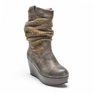Muk Luks Women's Medium Brown Quinn Boot