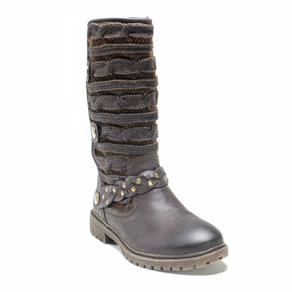 Muk Luks Women's Dark Brown Gayle Boot