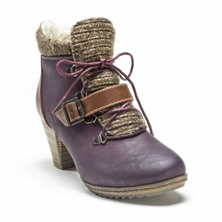 Muk Luks Women's Burgundy Leah Boot