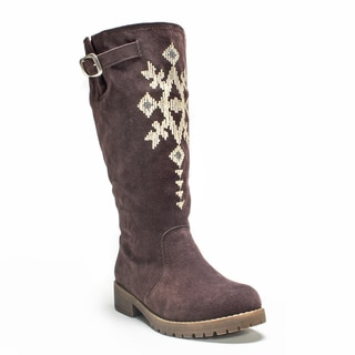 Muk Luks Women's Dark Brown Barbie Boot