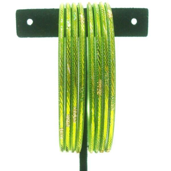 Light Green Metal Bangle Bracelets