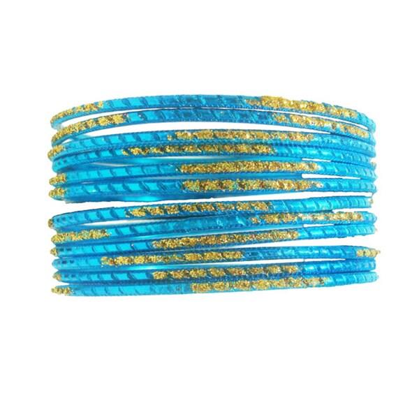 Blue Glitter Bangles