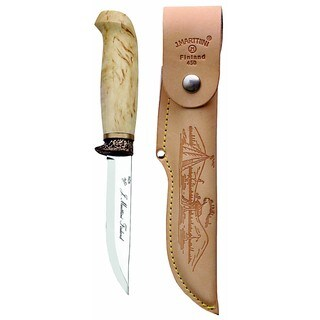 Marttiini Hunting Knife with Bronze Finger Guard (Finland)