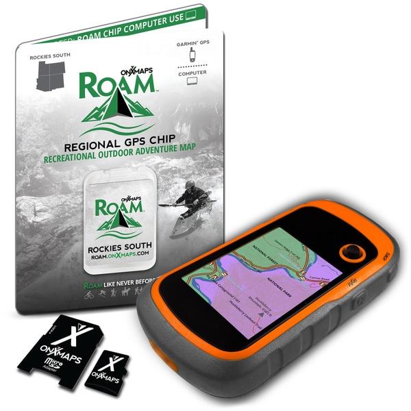onXmaps ROAM 2015 South Rockies 24k Topo Maps Micro SD Card for Garmin GPS (Covers Colorado, Utah, New Mexico, Arizona)