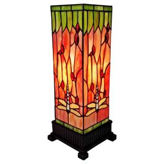 Amora Lighting Tiffany Style Dragonfly Table Lamp