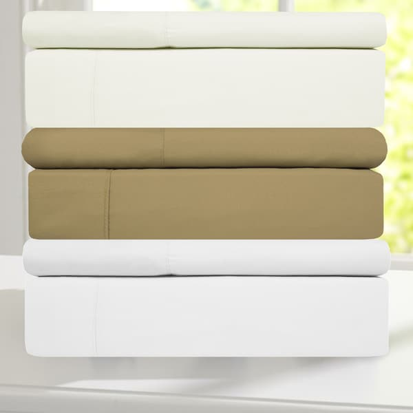 100-percent Cotton Super Soft 4-peice Bed Sheet Set 300 TC