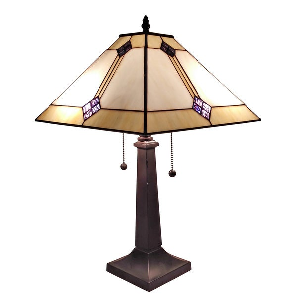 amora lighting tiffany style mission table lamp 17501179 overstock. Black Bedroom Furniture Sets. Home Design Ideas