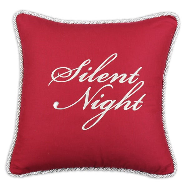 Circa Solid Lava 17-inch Silent Night Embroidered Throw Pillow