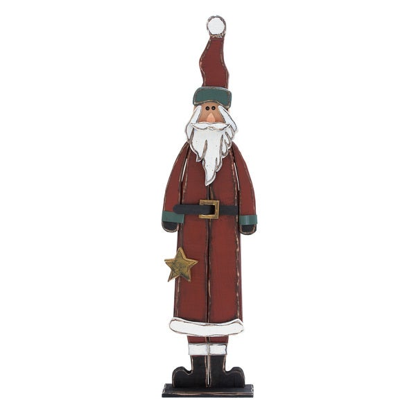 29-inch Wooden Santa Claus Display