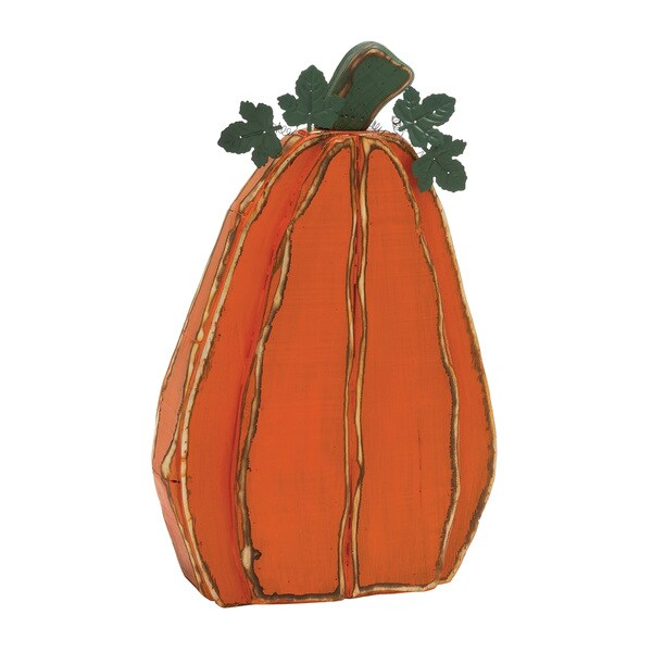 25-inch Metal Pumpkin Decor