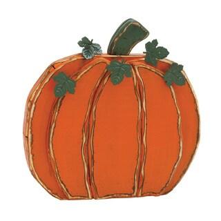20-inch Wooden Halloween Pumpkin Decor