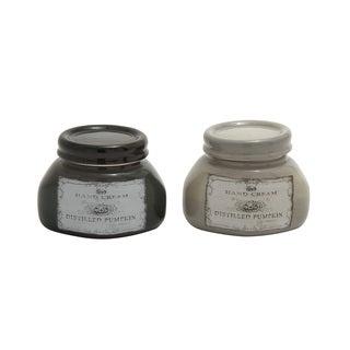 4-inch Small Ceramic Jars (Set of 2)