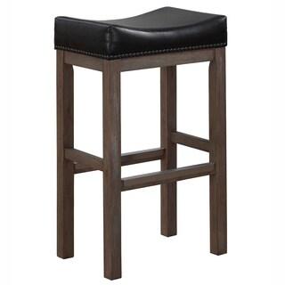 Saddle Seat 18 Inch Walnut Barstools Set Of 2 10339723