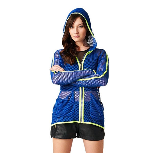 TOV Women's Hi-lite Blue Mesh Jacket