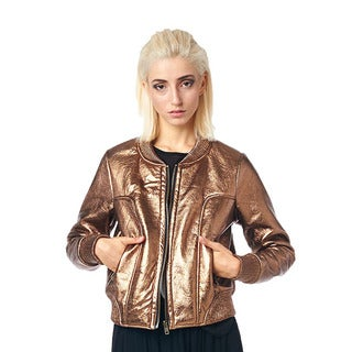 TOV Women's Metal Bronze Jacket