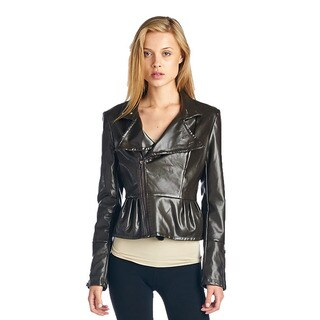 TOV Women's Sweetheart Grey Peplum Jacket