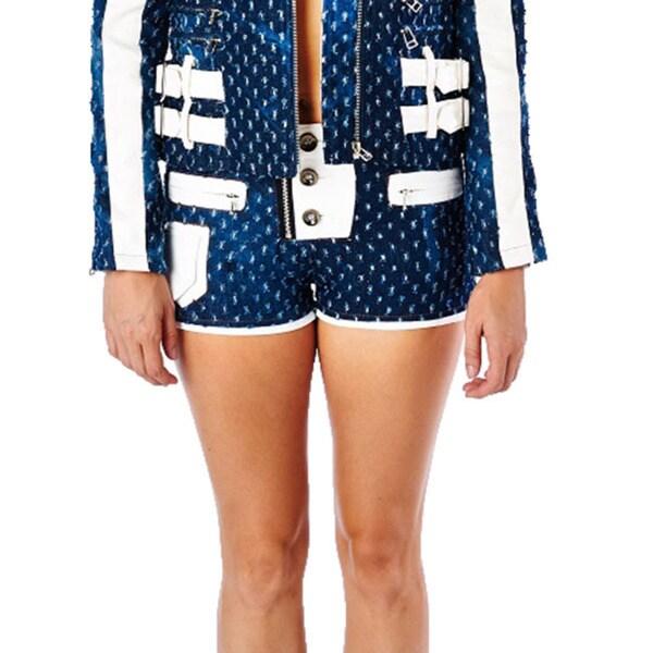 TOV Women's My Denim Blue Shorts