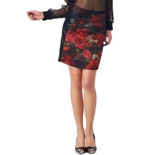 Women's Red Garden Skirt