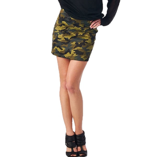 TOV Women's Camo Mini Skirt