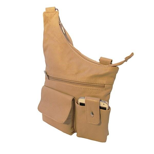 Crossbody Continental Leather Handbag with Adjustable Shoulder Strap