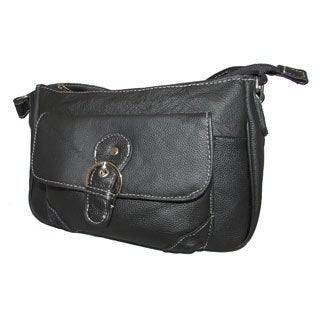 Continental Leather Small Crossbody Handbag with Adjustable Shoulder Strap