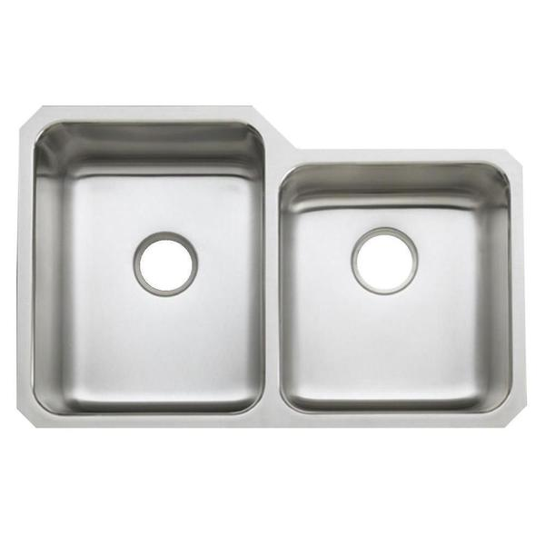 ... Undertone Undercounter Stainless Steel 0-Hole Double Bowl Kitchen Sink
