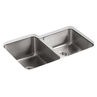 Kohler Undertone Undercounter Stainless Steel 0-Hole Double Bowl Kitchen Sink