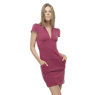TOV Women's Magenta 'Shift this Way' V-neck Dress