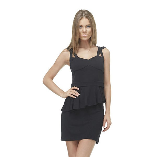 TOV Women's Black Mini Peplum Dress