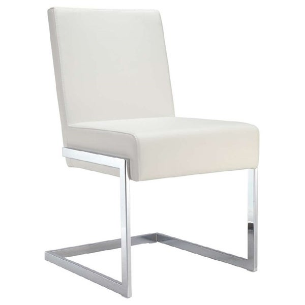Fontana Collection White Eco-leather Dining Chair