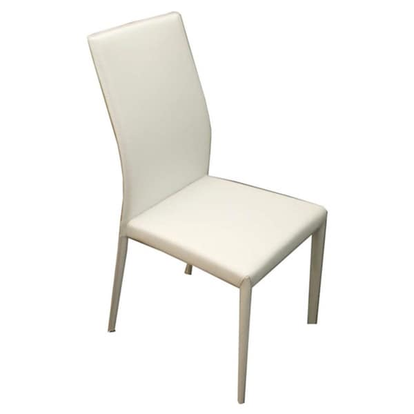 Heritage Collection White Eco-leather Dining Chair