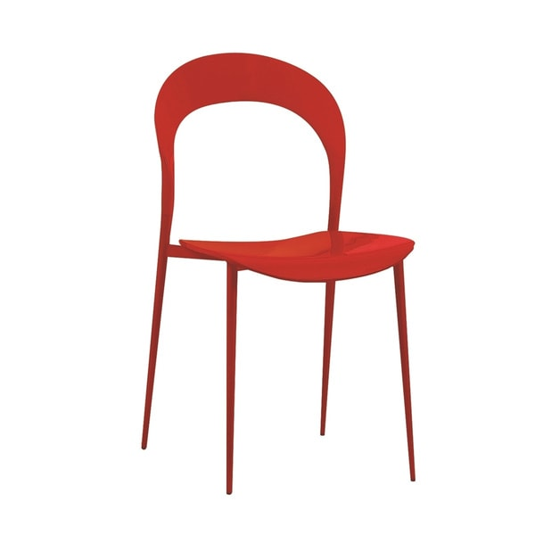Rider Collection High Gloss Red Lacquer Dining Chair