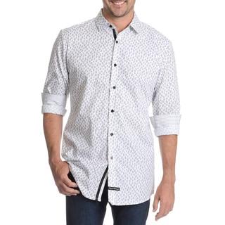 English Laundry Men's Paisley Print Dress Shirt
