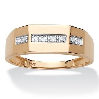 PalmBeach 10k Yellow Gold Men's 5/8ct TDW Diamond Wedding Band (H-I, I1-I2)