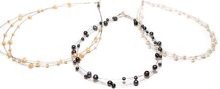 Sterling Silver and Freshwater Pearl Cable Necklace (USA)