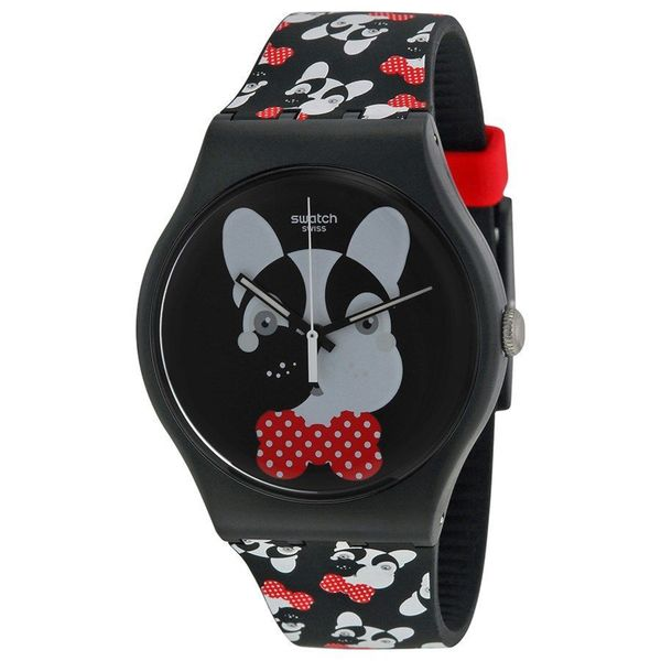 Swatch Women's SUOB115 'Andy Baby' Black Silicone Watch