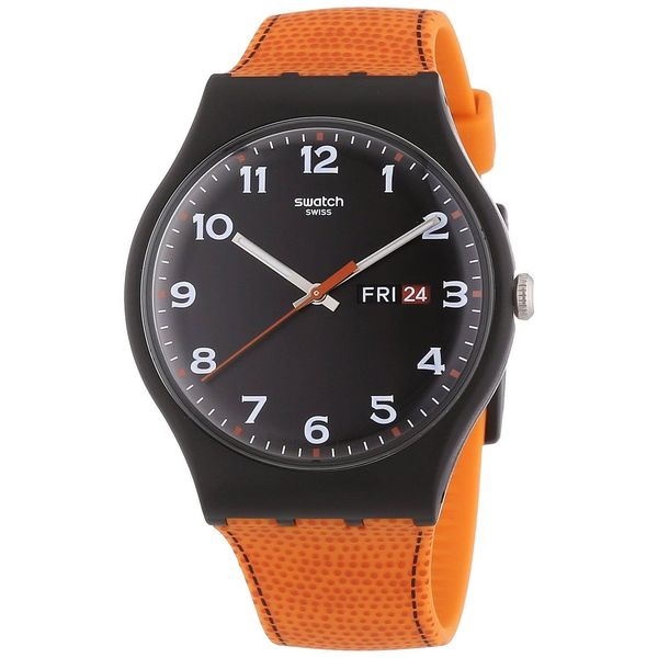 Swatch Unisex SUOB709 'Faux Fox' Orange Silicone Watch