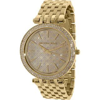 Michael Kors Women's MK3398 'Darci' Crystal Gold-Tone Stainless Steel Watch