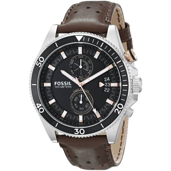 Fossil Men's CH2944 'Wakefield' Chronograph Brown Leather Watch