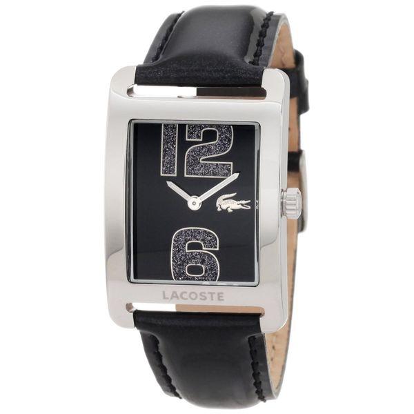 Lacoste Women's 2000677 'Andorra' Black Leather Watch