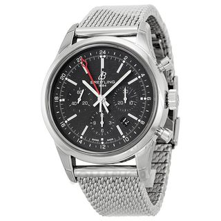 Breitling Men's AB045112-BC67 'Transocean' Automatic Chronograph Silver Stainless steel Watch