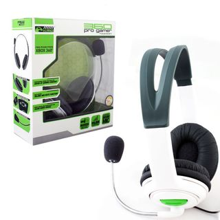 KMD White Large Live Chat Headset With microphone For Microsoft Xbox 360