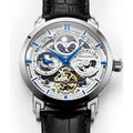 Stuhrling Original Men's Anatol Automatic Skeleton Leather Strap Watch