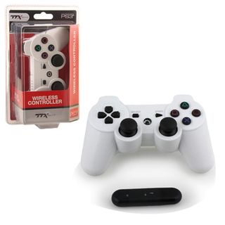 TTX Tech White Wireless 2.4 GHZ Controller For PC For Sony Playstation PS 3