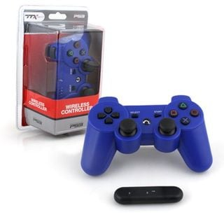 TTX Tech Blue Wireless 2.4 GHZ Controller For PC For Sony Playstation PS 3