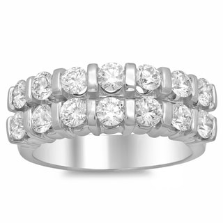 14k White Gold 1 3/5ct TDW Diamond Ring (E-F, VS1-VS2)