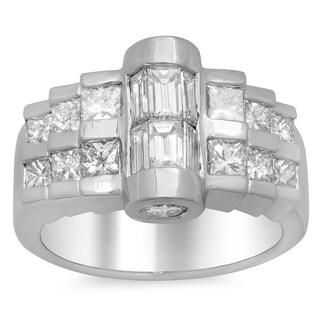 14k White Gold 2 1/2ct TDW Diamond Ring (E-F, SI1-SI2)