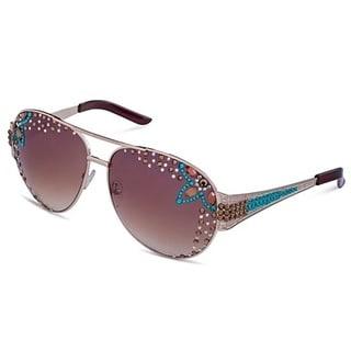 Pearlperri Women's S/S Limited Edition 'Hipster Graffiti' Aviator Sunglasses